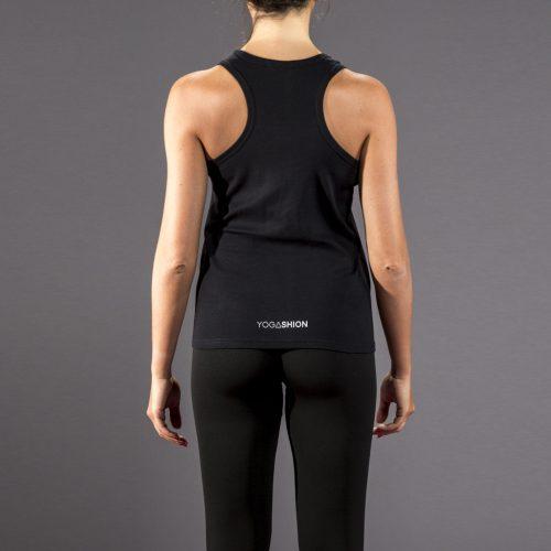 canotta fitness nero breathe yogashion