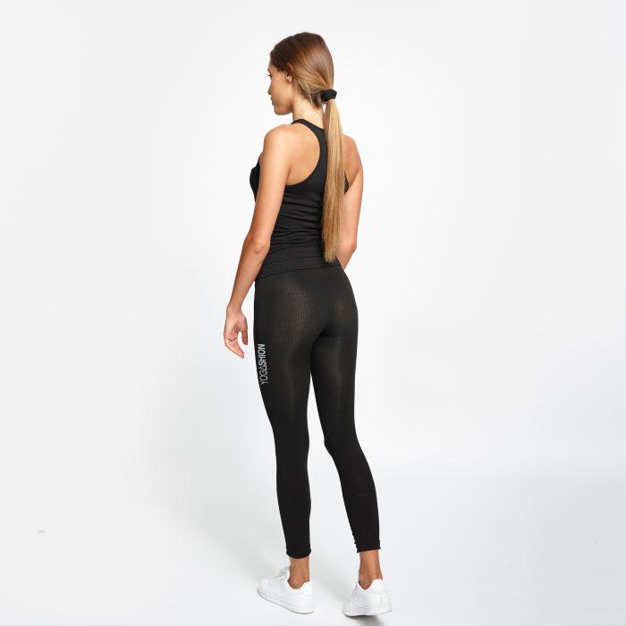 leggings fitness Yogashion polipropilene nero