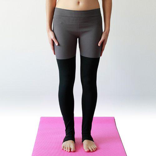 leggings bicolore grigio yogashion