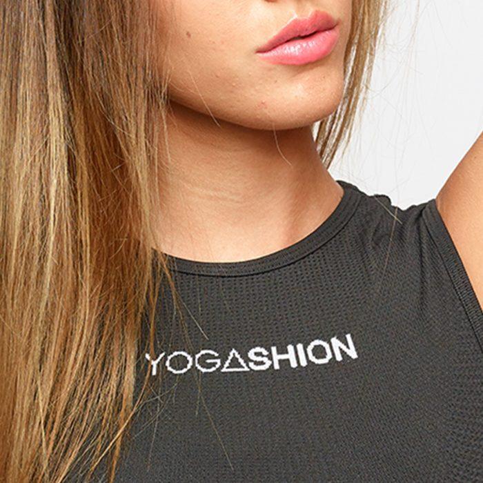 canotta fitness polipropiliene yogashion nero