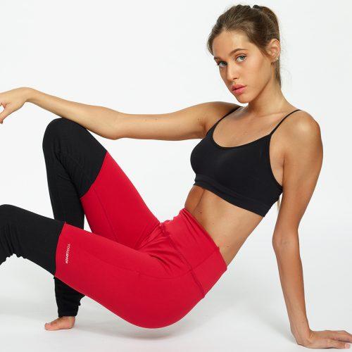 leggings fitness leggings yoga Yogashion bicolore rosso
