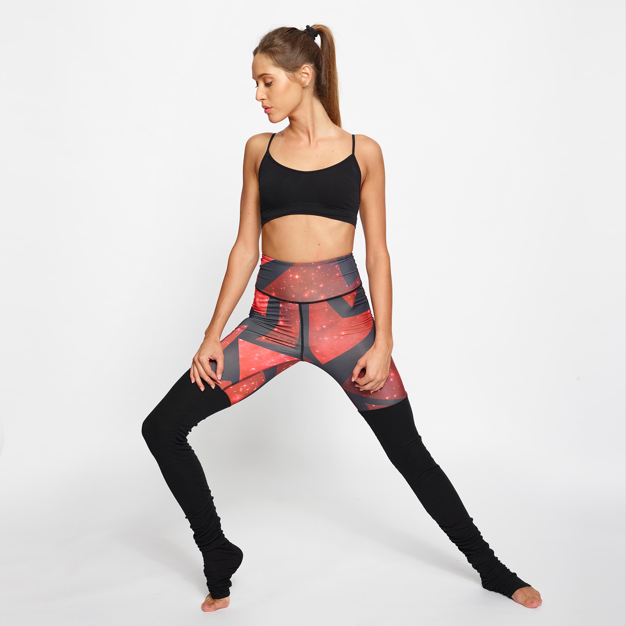 leggings fitness leggings yoga Yogashion stampa cosmo