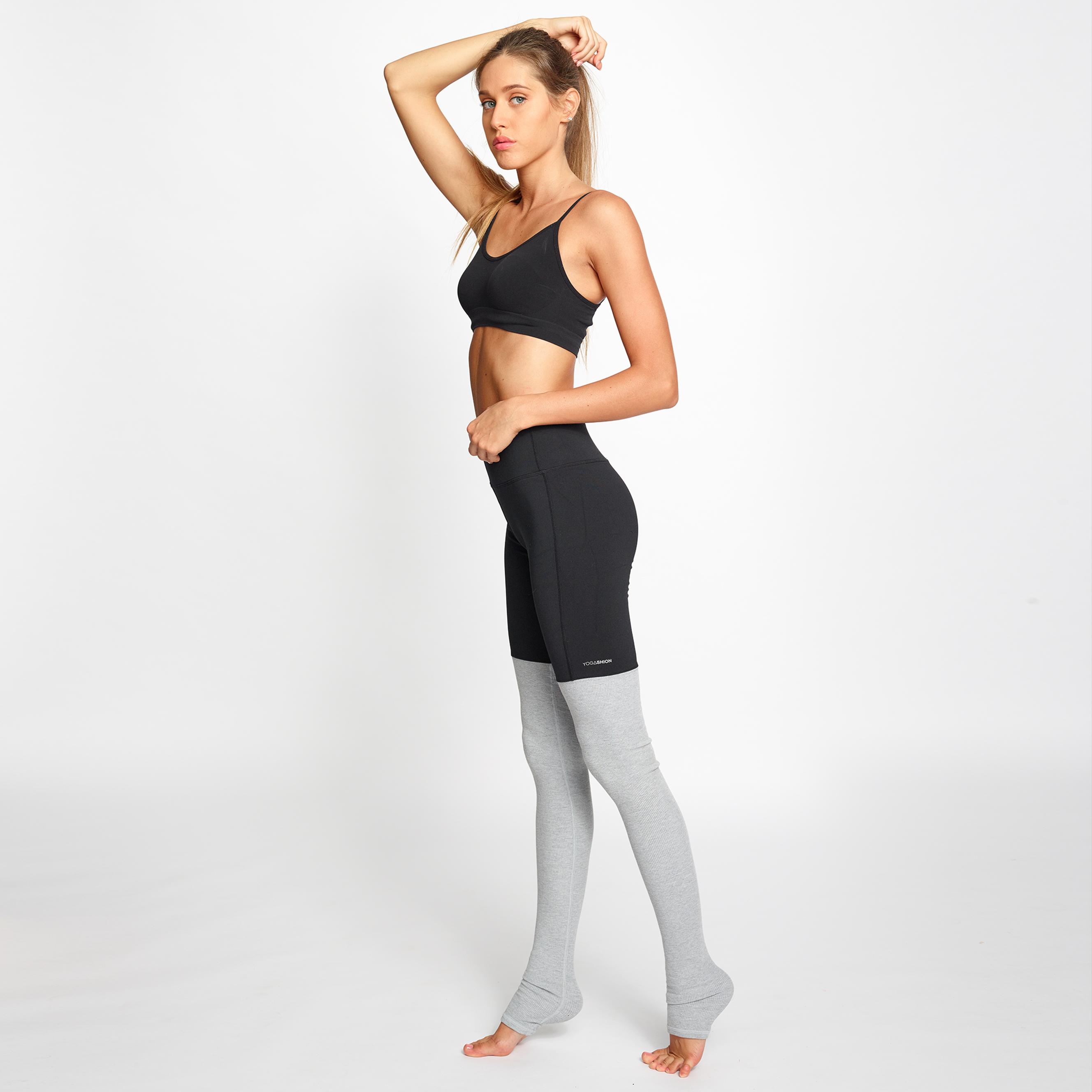 leggings fitness Yogashion bicolore grigio