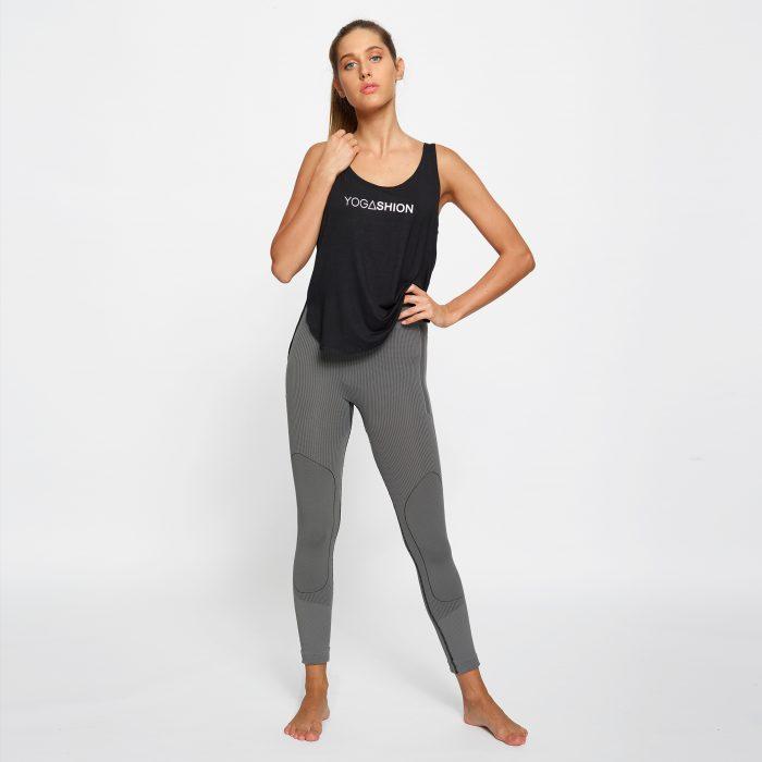 leggings fitness Yogashion polipropilene grigio