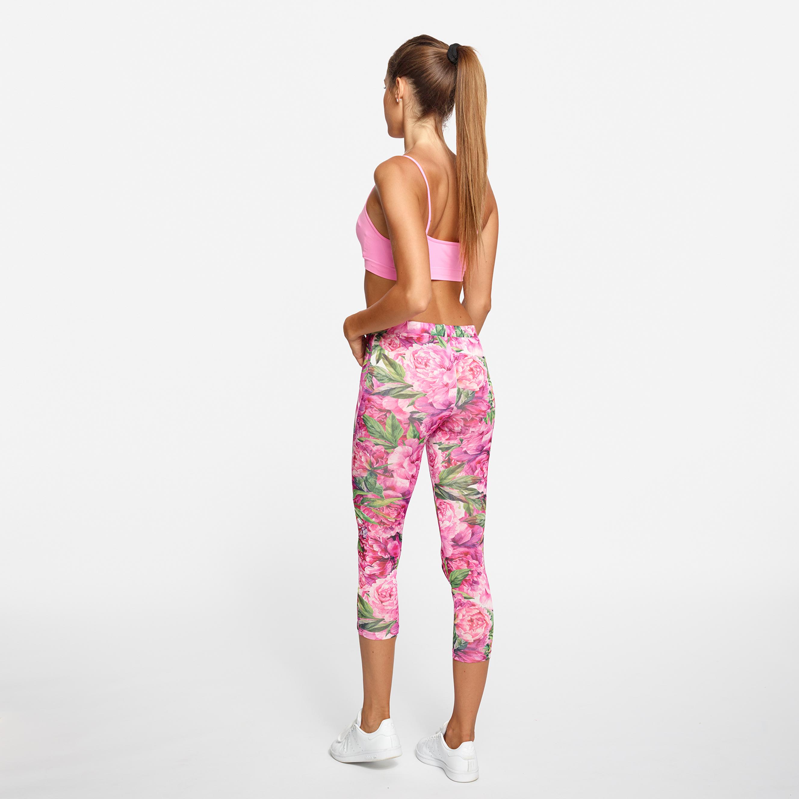 leggings fitness Yogashion stampa fiori